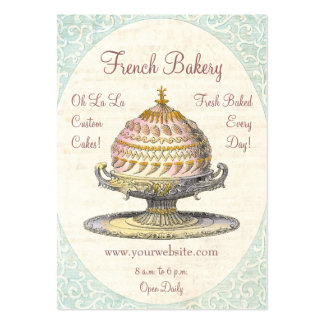 Paris Victorian Vintage French Bakery Business Card