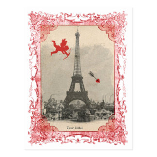 Paris Vintage Cupid Postcard