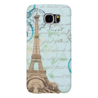 Paris Vintage French Writing Aqua Phone Case