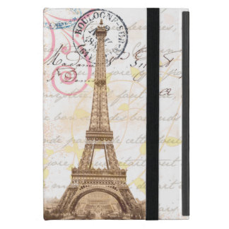 Paris Vintage French Writing Pink Postcard Case