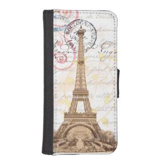 Paris Vintage French Writing Pink Wallet Case
