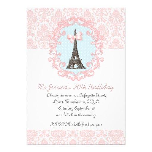 Paris Vintage Custom Invite