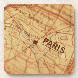 PARIS Vintage Map Coaster