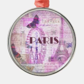 PARIS Vintage Parisian Theme art Christmas Ornaments