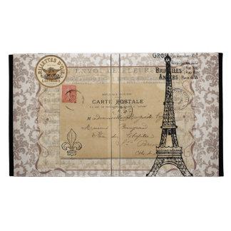 Paris Vintage Shabby Chic Eiffel Tower iPad Case