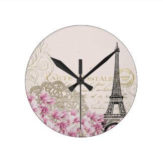Paris vintage wall clock