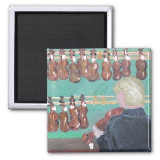 Paris Violin Shop Refrigerator Magnets