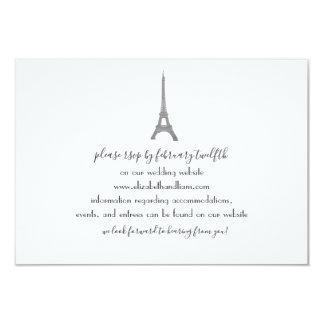 Paris Wedding Response Card