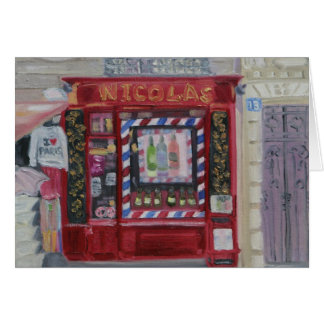 PARIS WINE SHOP NOTECARD
