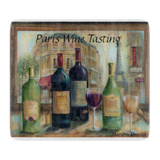 Paris Wine Tasting Cutting Board