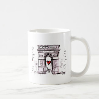 Paris with love coffee mug