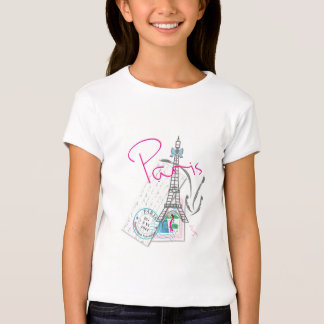 """""""Paris with Love, Eiffel Tower"""" French T Shirts"""