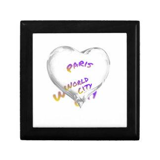 Paris world city, Water Heart Gift Box
