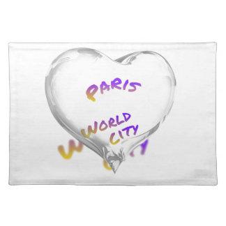 Paris world city, Water Heart Placemat