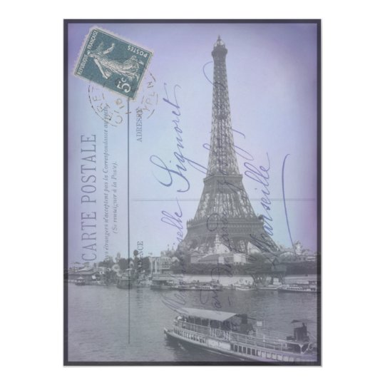 Paris World's Fair French Postcard Invites
