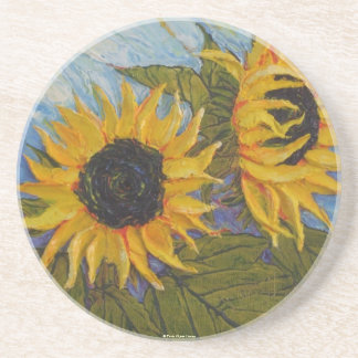 Paris Yellow Sunflowers Coaster