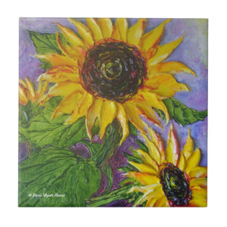 Paris' Yellow Sunflowers Tile