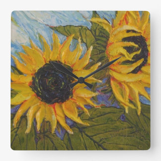 Paris' Yellow Sunflowers Wall Clock