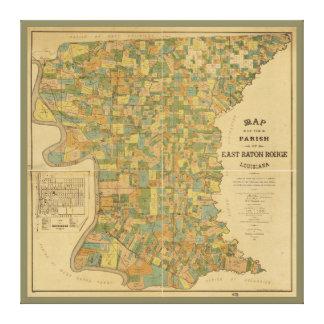 Parish of East Baton Rouge, Louisiana Map (1895) Canvas Print
