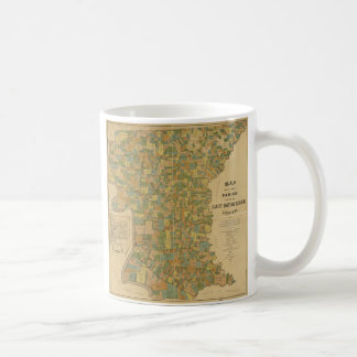 Parish of East Baton Rouge, Louisiana Map (1895) Coffee Mug