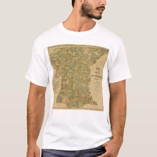 Parish of East Baton Rouge, Louisiana Map (1895) T-Shirt
