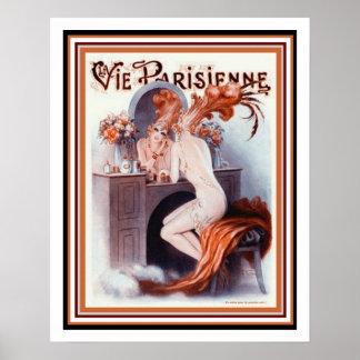 """Parisian Art Deco """"Showgirl"""" Poster 16 x 20"""