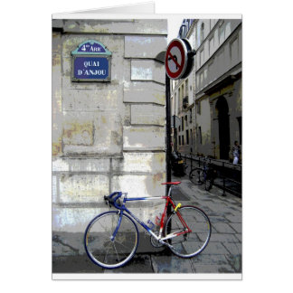 Parisian Bicycle Card