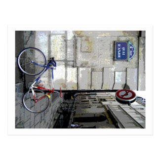 Parisian Bicycle Postcard