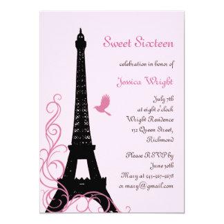 Parisian Birthday Invitation (pink)