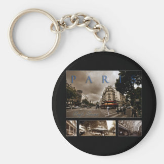 Parisian Cafe Scene Key Ring