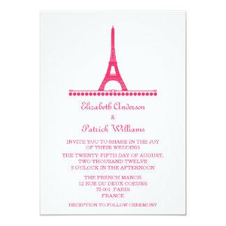 Parisian Chic Wedding Invite, Pink Card