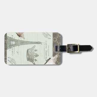 Parisian Collage Luggage Tag