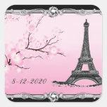 Parisian Eiffel Tower Wedding Invitation Seals