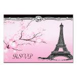 Parisian Eiffel Tower Wedding RSVP Invitations