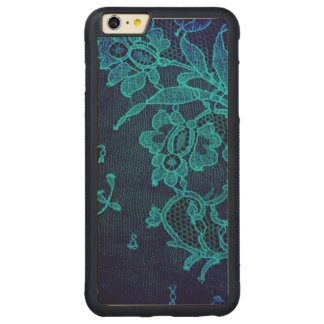 Parisian Feminine Victorian Gothic Navy Blue Lace Carved Maple iPhone 6 Plus Bumper Case