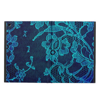 Parisian Feminine Victorian Gothic Navy Blue Lace Cover For iPad Air