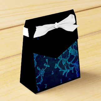 Parisian Feminine Victorian Gothic Navy Blue Lace Favour Box