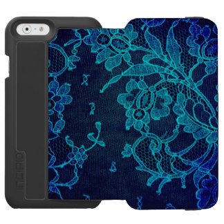 Parisian Feminine Victorian Gothic Navy Blue Lace Incipio Watson™ iPhone 6 Wallet Case