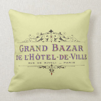 Parisian Hotel Vintage French Advertisement Cushions