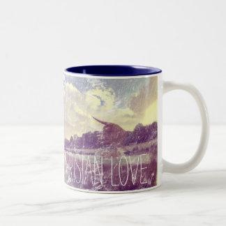 Parisian Love Weathered Image Two-Tone Coffee Mug