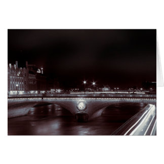 Parisian Night Trails Greeting Card