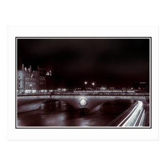 Parisian Night Trails Postcard