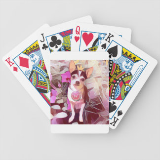 """Parisian Pale Pink Pooch """"W"""" Bicycle Playing Cards"""