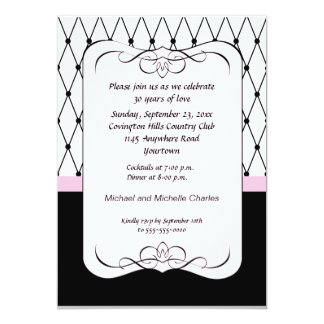 Parisian Pink Anniversary Invitation