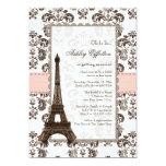Parisian Pink Bridal Shower Invitations