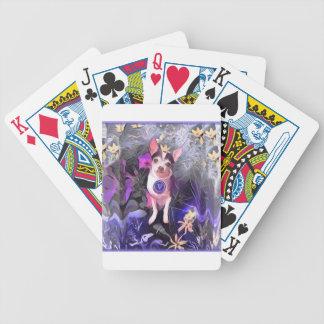 "Parisian Purple Pooch ""V"" Monogram Bicycle Playing Cards"
