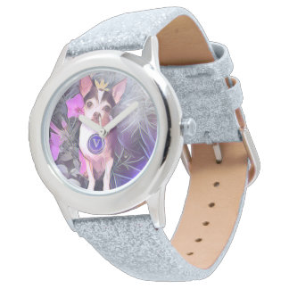 "Parisian Purple Pooch ""V"" Monogram Watch"