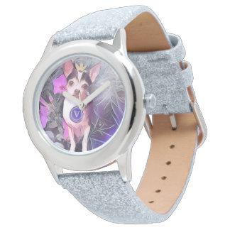 "Parisian Purple Pooch ""V"" Monogram Wristwatches"