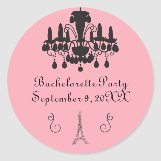 Parisian Themed Bachelorette Party- Circle Sticker