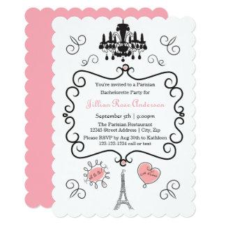 Parisian Themed - Bachelorette Party Invitation